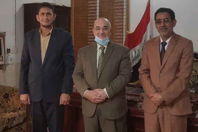 ادارة مكتب النجف الانتخابي في ضيافة قائمقامية المحافظة
