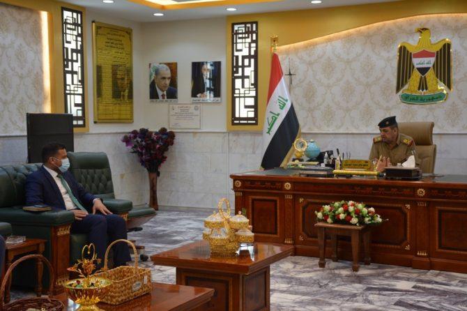 مدير مكتب انتخابات بغداد /الكرخ الانتخابي يلتقي قائد شرطة بغداد