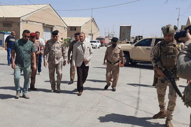 ادارة مكتب ذي قار الانتخابي تستقبل قائد عمليات سومر في المحافظة