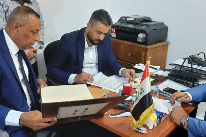 فرق المتابعة والرصد من دائرة شؤون الاحزاب تواصل زياراتها الميدانية لمقرات الاحزاب في بغداد