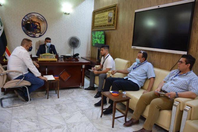 مدير مكتب انتخابات بغداد الكرخ يستقبل فريق الامم المتحدة للمساعدة الانتخابية